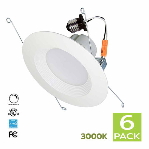 6 Inch LED Retrofit kit 15W 3000K for Recessed Lighting (Warm White)