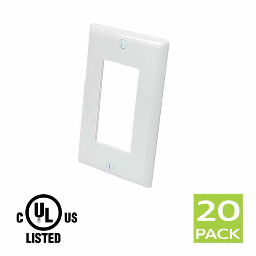 Decora Wall Plate 1 Gang in White