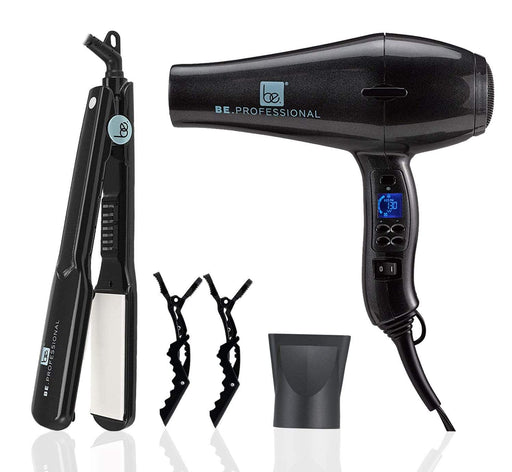"Be.Professional Be.Professional Hair Dryer & 1.5"" Flat Iron Bundle 