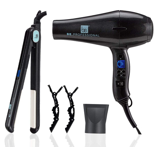 "Be.Professional Be.Professional Hair Dryer & 1"" Flat Iron Bundle 