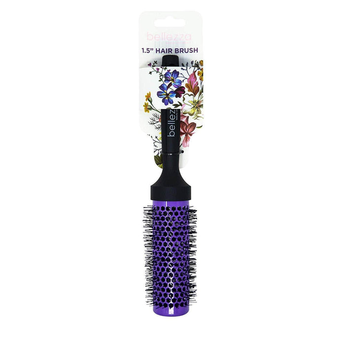 Bellezza Round Ceramic Hair Brush | Purple | Multiple Sizes Beauty Bellezza 1.5 Inch