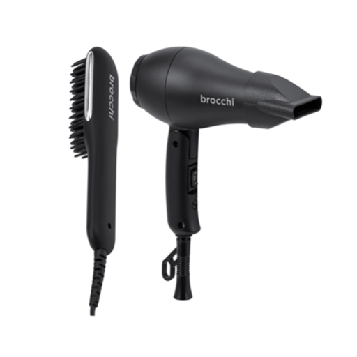 Brocchi Brocchi Mini Hair Dryer and Hot Air Brush Travel Set | Limited Edition Bundle