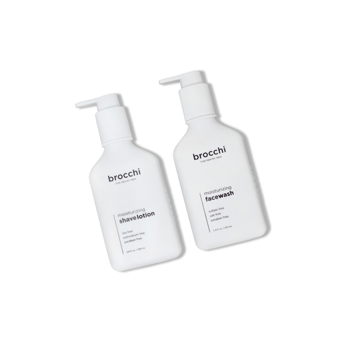 Brocchi Moisturizing Face Wash & Shave Lotion Bundle