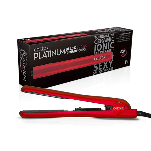"Cortex International Red Cortex International Black Series 1.25"" Flat Iron 