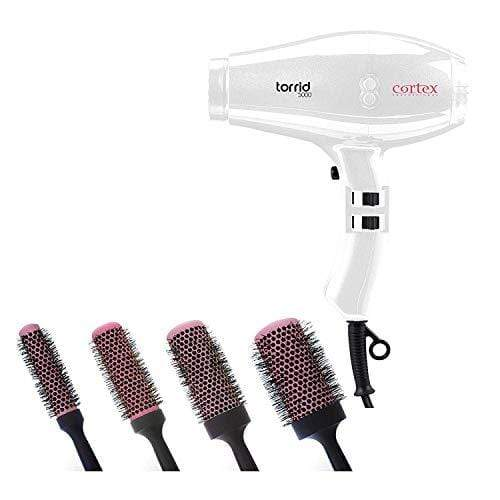 Cortex Professional Torrid Hair Dryer | 4-Piece Brush Set