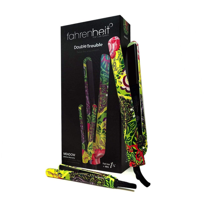 "Fahrenheit Double Trouble 1.25"" & 0.5"" Flat Iron Set"