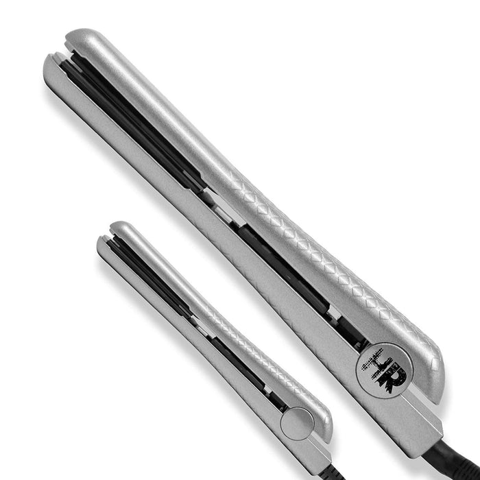 "Hair Rage Hair Rage 1.25"" & 0.5"" Silver Flat Iron Set"