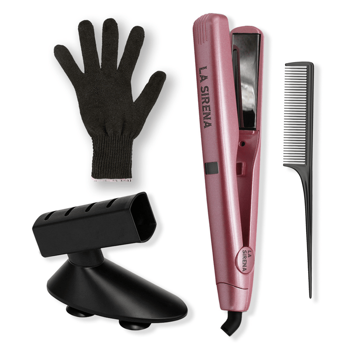La Sirena Blush Pink La Sirena 2 in 1 Versa Styler Bundle | FREE Glove, Holder & Comb Included