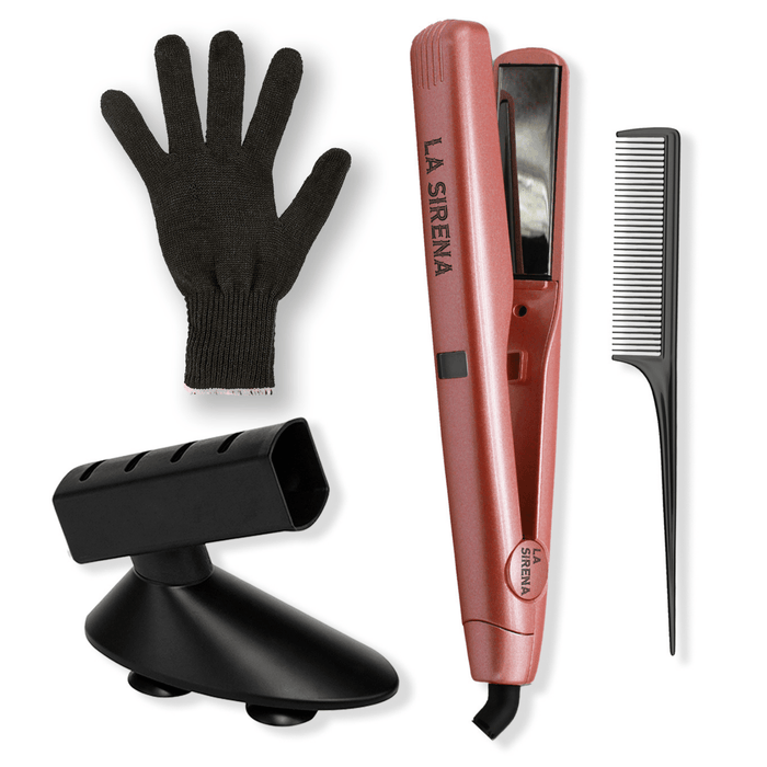 La Sirena Rose Gold La Sirena 2 in 1 Versa Styler Bundle | FREE Glove, Holder & Comb Included
