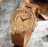 Artistic yellow Wooden Watch