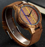 Artistic line face Wooden watch