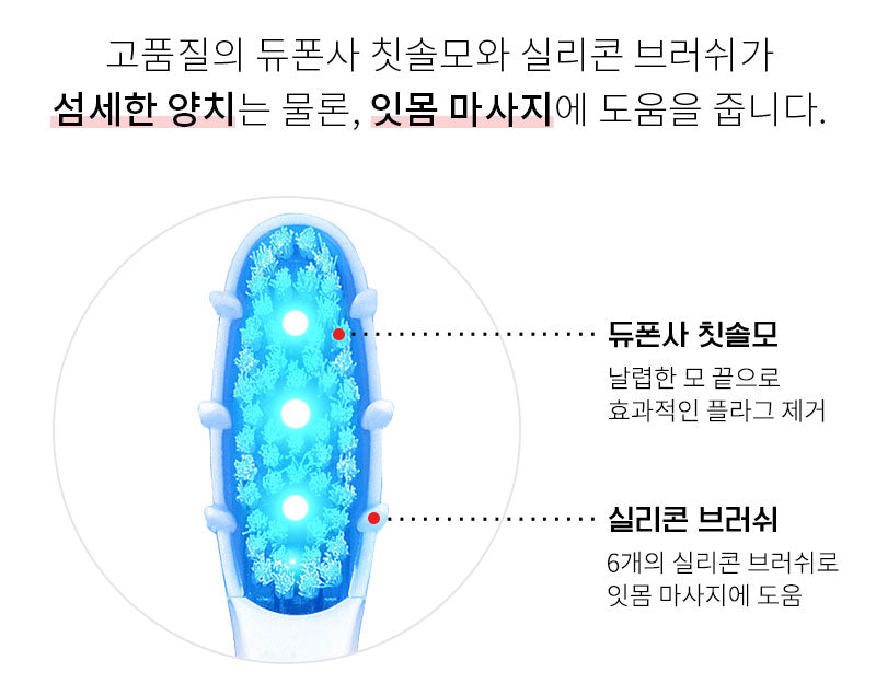 [Dentiluv] White Glow LED Electric Tooth bush