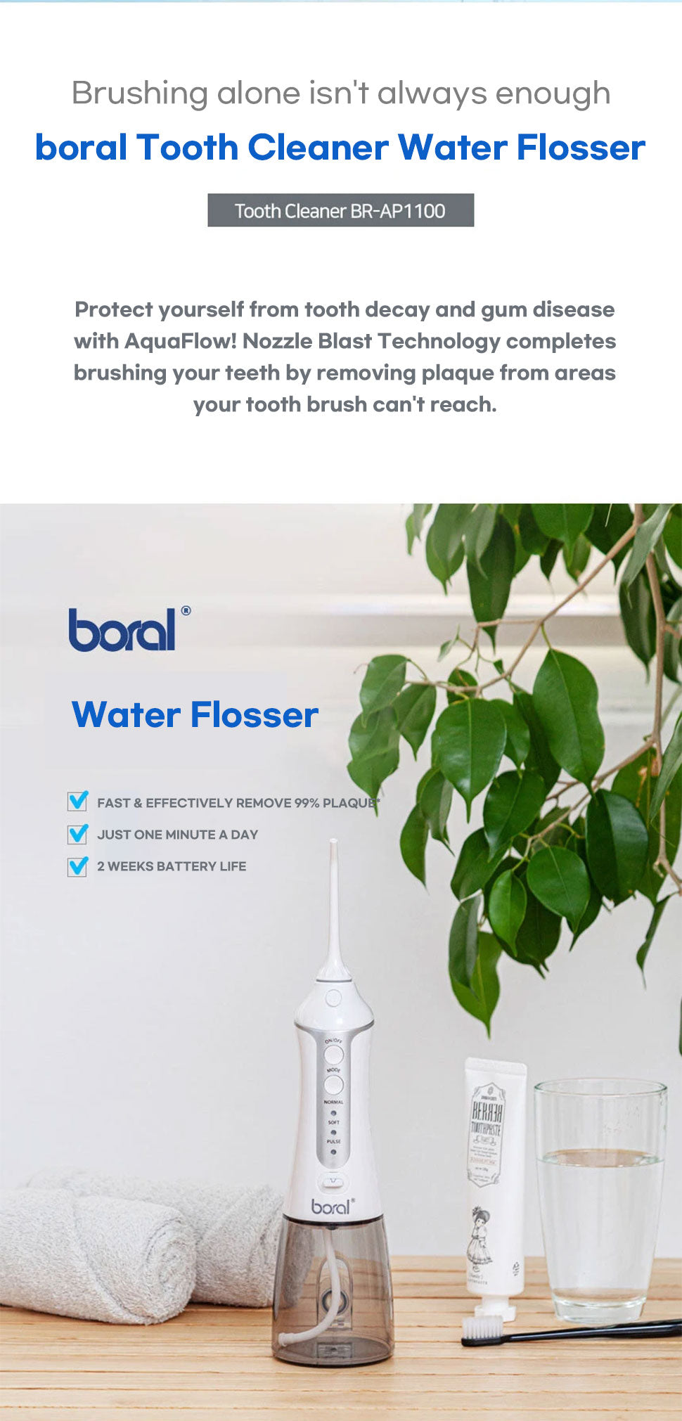 boral tooth cleaner water flossor brush mouth health australia korea shopping