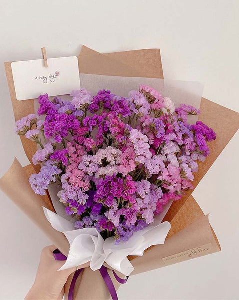 Dried Flower Bouquet - Statice (6597836472492)