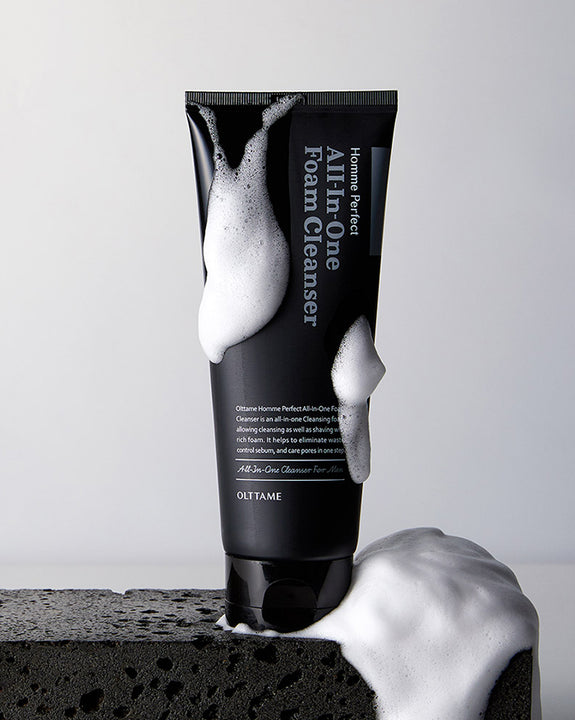 OLTTAME Homme Perfect All-In-One Foam Cleanser (4474537214030)