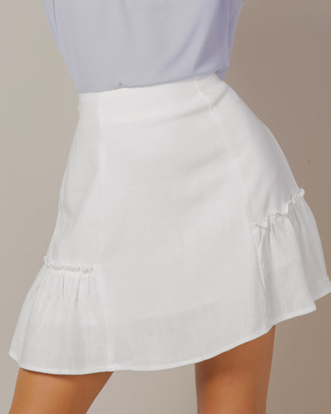Side Frill Ana Skirt (4460874432590)