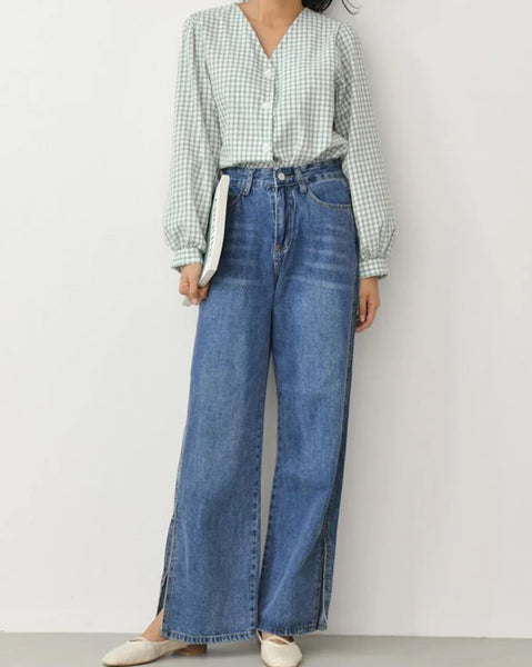 High Waist Long Denim (4379694563406)