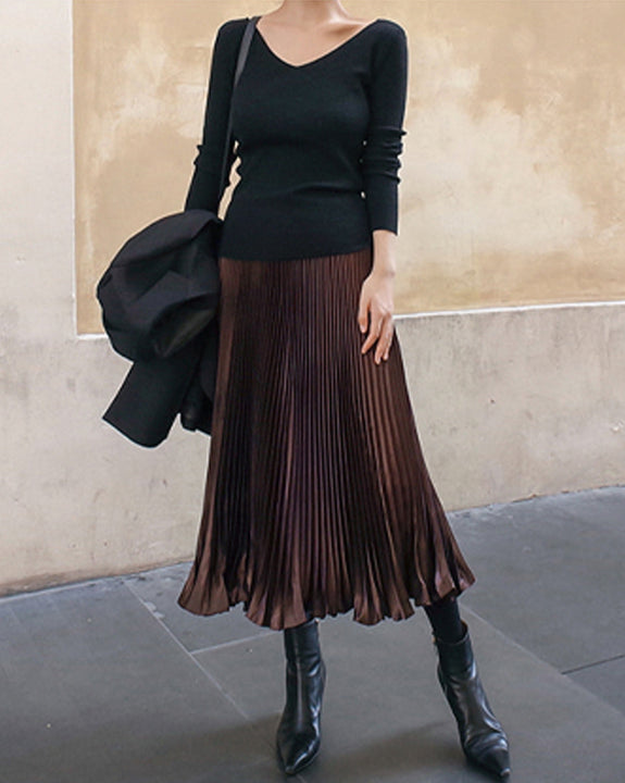Wendy Pleated Maxi Skirt (4779495981134)