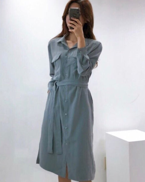 Primo Daily Button Dress (4625646387278)