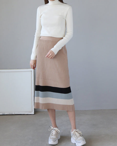 Lala Pleats Knit Skrit (4631005626446)