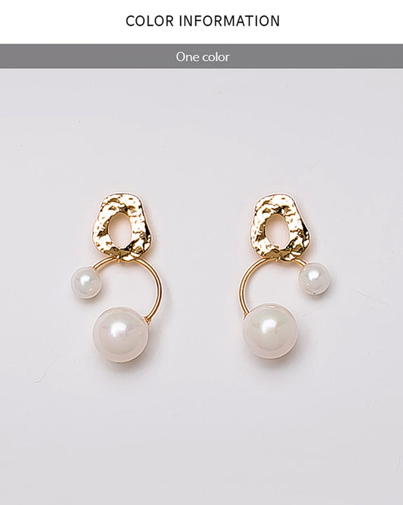 Tia Double Pearls Earrings (4772885921870)