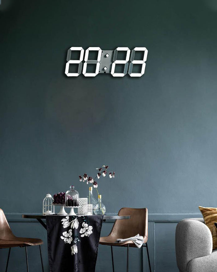 LED Silent Wall Clock 3D (4708478550094)