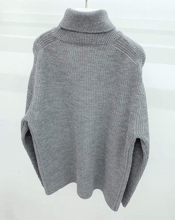 Ecru Turtle-neck Knit Top (4746408624206)