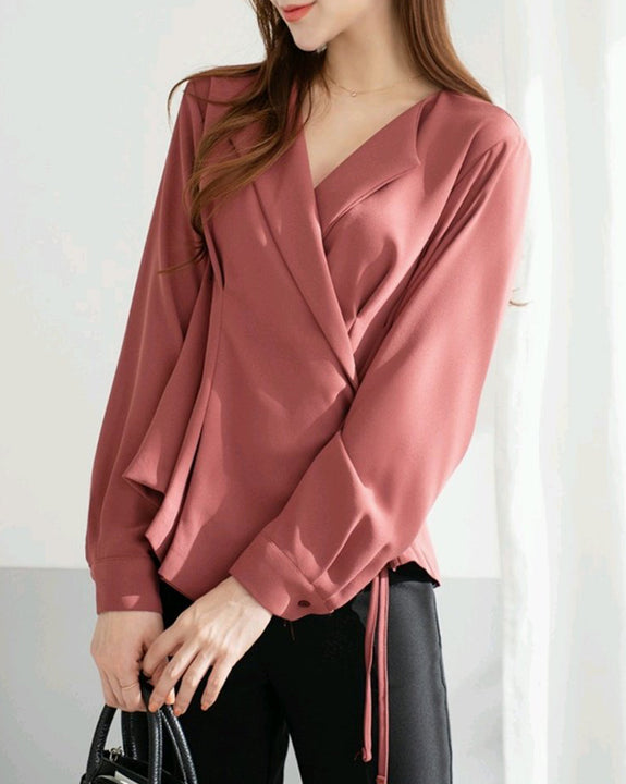 Alayna Wrap Blouse (4797697163342)