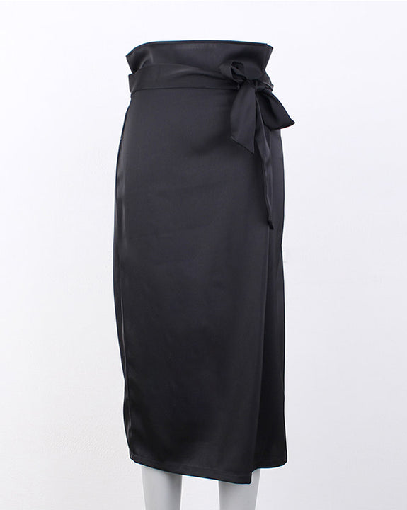Silky Belt Skirt (4787226542158)