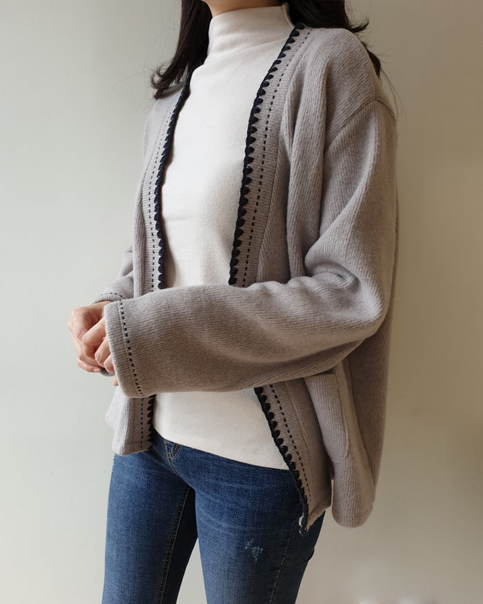 Vene Stitch Point Cardigan (4801078952014)