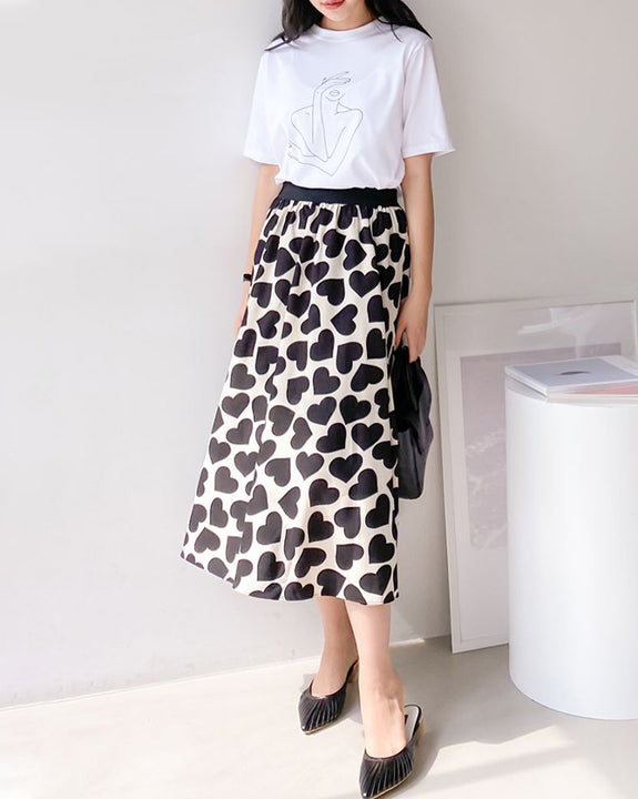 Heart Palace Midi Skirt (4801118077006)