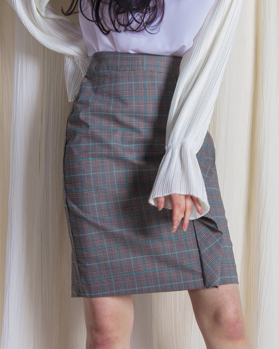 Momo Check Skirt (4382130733134)