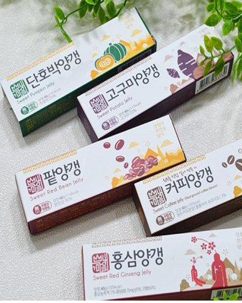 Sweet Korean traditional Jelly 4 flavors (4702466539598)