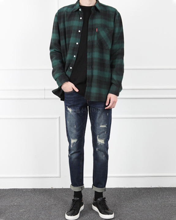 Over-fit Check Shirt (4718341718094)