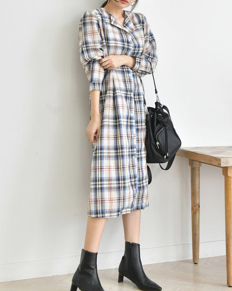 Harley Check Dress (4679437975630)