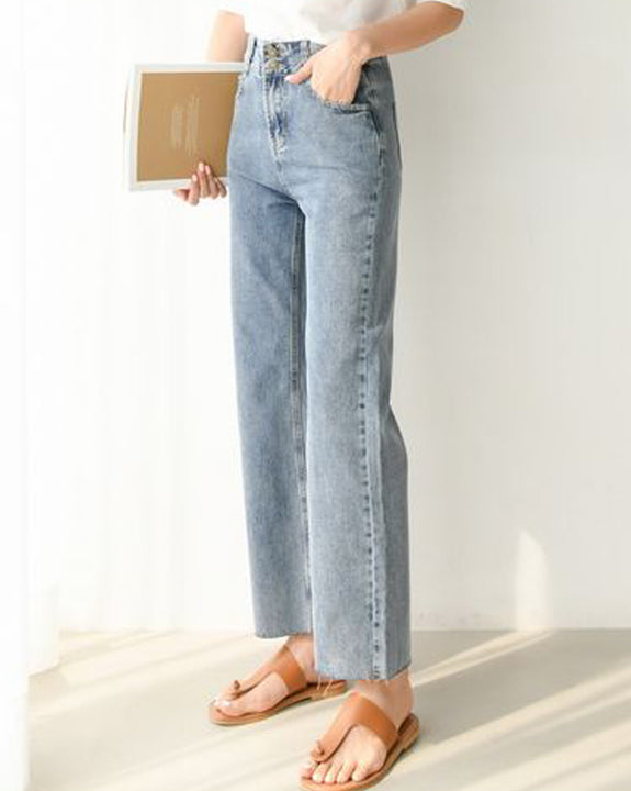 High Waist Lounge Wide Jeans (4625721163854)