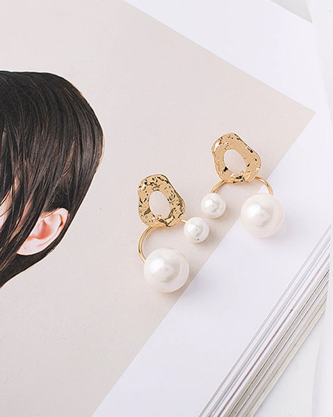 Double Pearls Ronti Earrings (4796173484110)