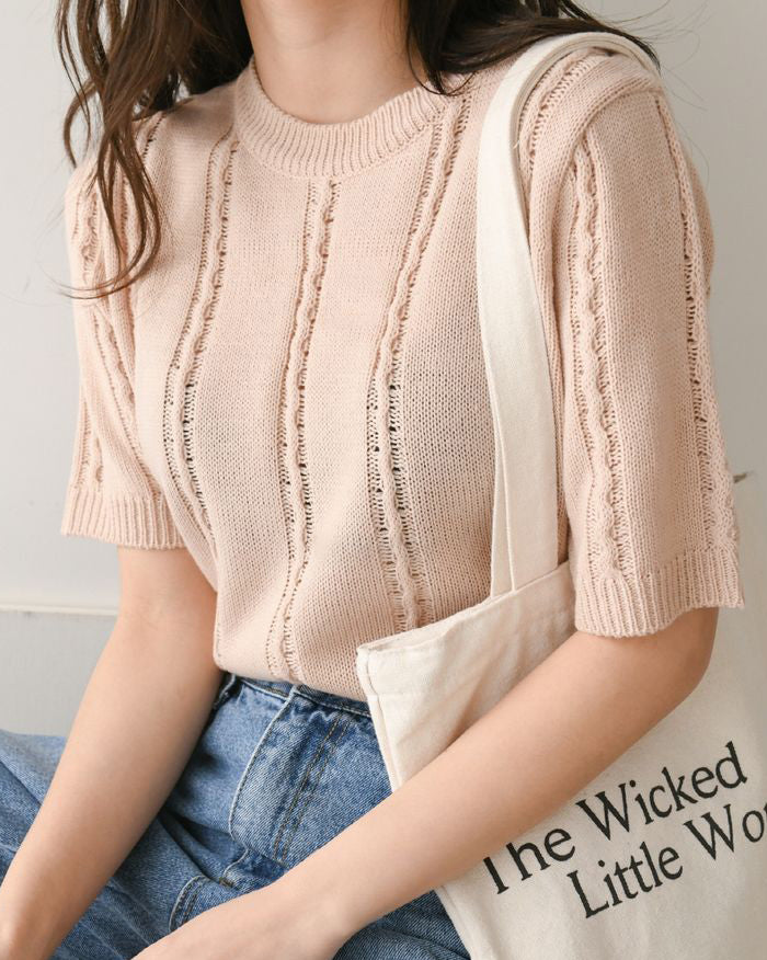 Basic Stripe Knit Holic Top (4603220820046)