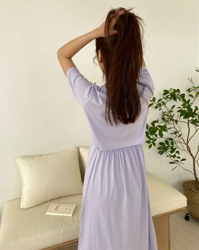 Lovely Back Banding Dress (6114321170604)