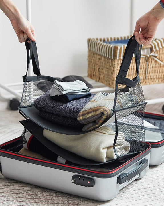Multi storage compartment for suitcase (4702532862030)