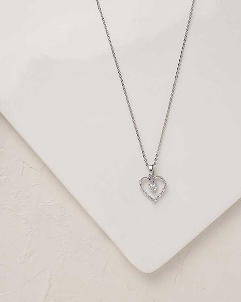 Heart Motive Necklace (6154968694956)