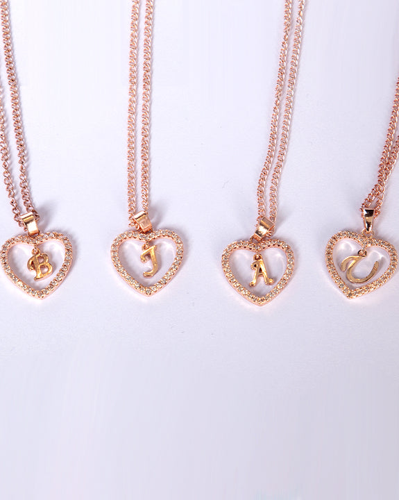 D.I.Y Alphabetic Necklace (Rose Gold) (4493959397454)