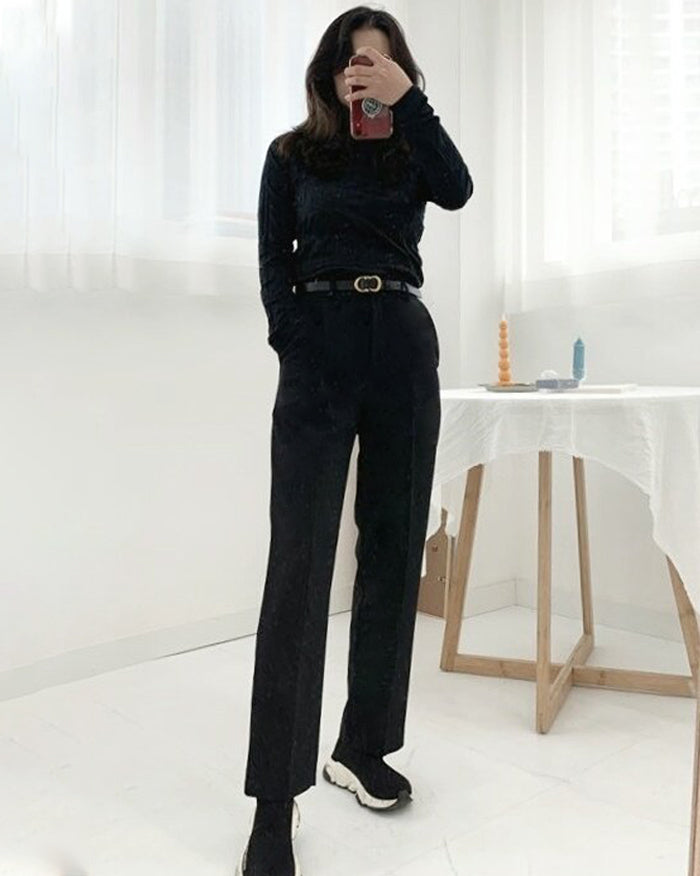 Locco High-Waisted Banding Slacks (4841849061454)