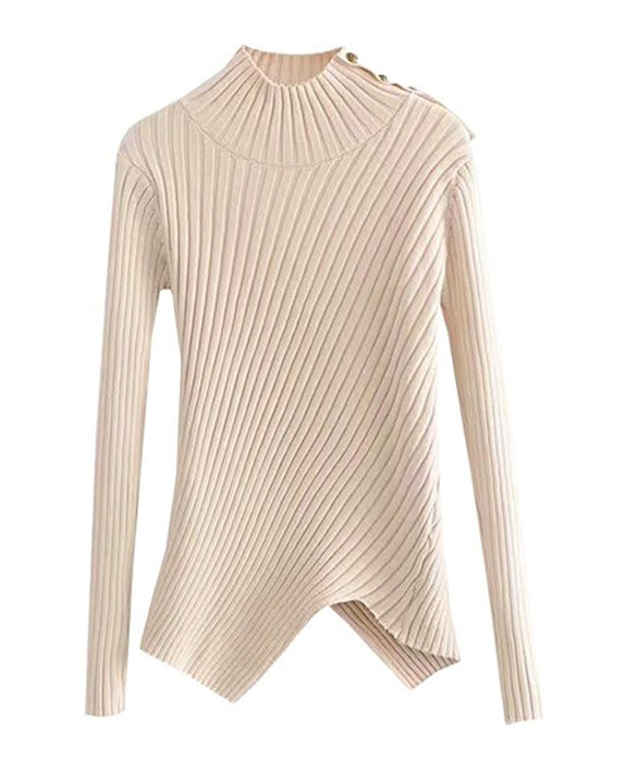 Becky Asymmetric Knit Top (4630662545486)