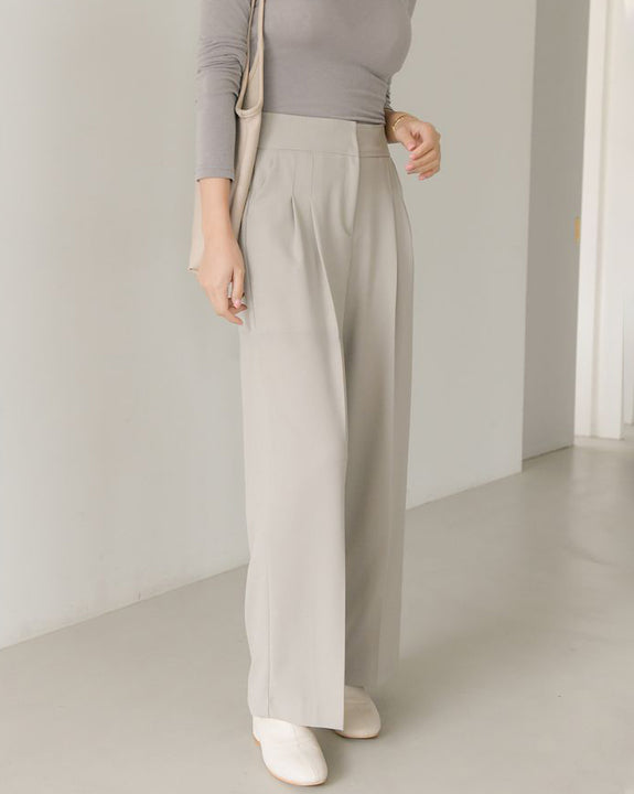 One Pick Pin-tuck Slacks (4796193341518)