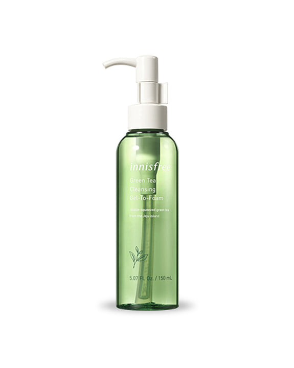 INNISFREE Green Tea Cleansing Gel-To-Foam (150ml) (4817908301902)