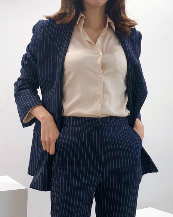 Miko Stripe Blazer & Pants Set (4625541988430)