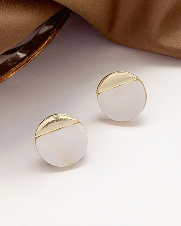 Round Cut Earrings (4849405952078)