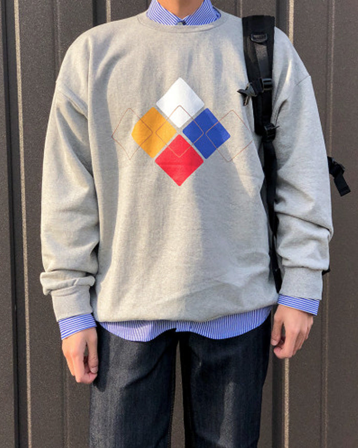 Argyle Pattern Sweatshirt (4757996437582)