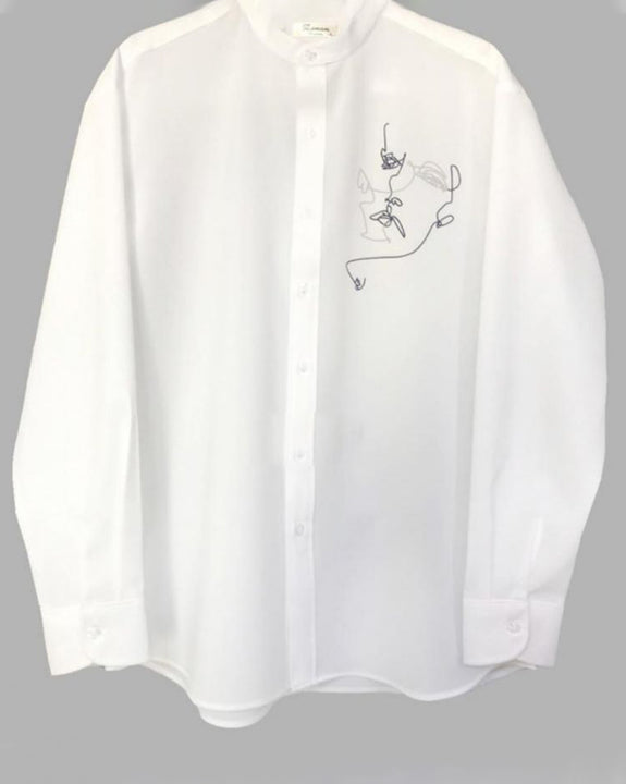 Croquis China Neck Shirt (4708543692878)